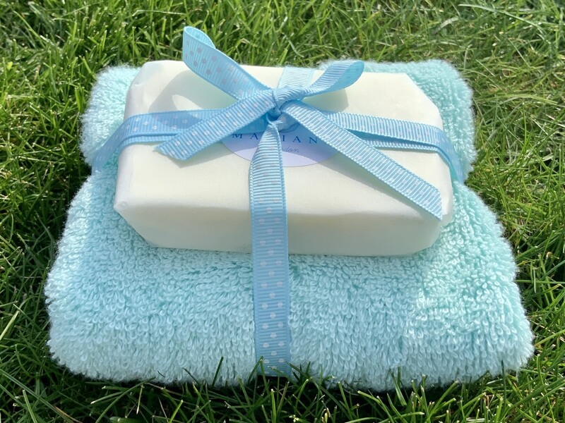 Sweet Orange and Patchouli 110g Soap with Premium Bamboo Face Cloth