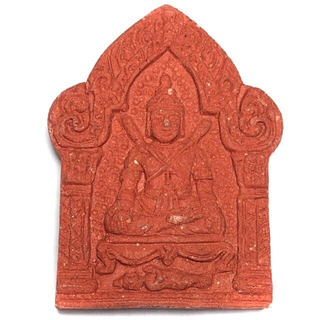 Pra Khun Phaen Chom Talad Pok Dab 2 Lem (double swords Khun Phaen) Hlang Palad Ruay Ngern (Palad Khik for riches on rear face) - Commerce and Promotion amulet - Samnak  Ajarn San (Kong Waet)