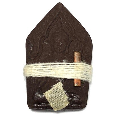 Khun Phaen Sanaeh Paya Roi Mia (Enchanting Lord of a Hundred Wives) - Nuea Wan Dam Maha Sanaeh (Black Powders) 4 Takrut + White Cloth & Cord Binding spell + Prai Oil Resins- Ajarn Apichai Decha