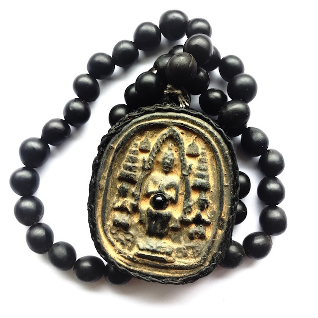 Pra Yord Khun Pol Pim Yai Ongk Kroo Amulet + Lek Lai + 54 Bead Sacred Berry Prayer Rosary - Luang Por Prohm 2548 BE