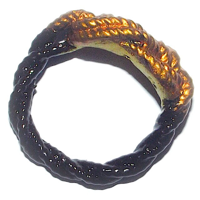 Hwaen Pra Pirod Fiery Warrior Ring of Protection and Power Stuffed with Sacred Powder + Takrut 2.5 Cm  - Luang Por Supoj