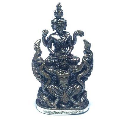 Por Phu Ruesi Jakkapat Navagote Song Krut Paya Nak Koo - Nuea Nava Loha Gon Ngern 9 Sacred Metals + Solid Silver Base + Kring Bead- Luang Phu Nong Tammachodto