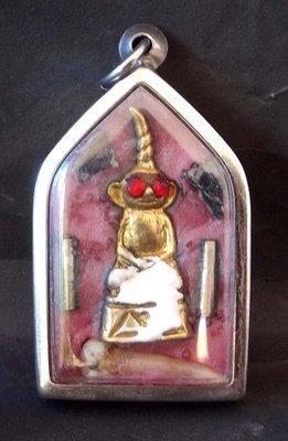 Paya Ngang Dta Daeng Ud See Pheung Maha Sanaeh Fang Chin Aaathan (mortal remains) Prai Luead (Prai blood) 'Ong Kroo' - most powerful Prai Spirit amulet - Pra Ajarn Dtecharangsri