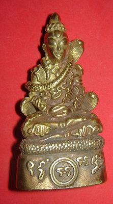 Pra Ngang Hmeun Montr (special Gammagarn edition) - Ngang with ten thousand prayer incantations - Nuea Tong Lueang Fang Takrut Gao Dork (9 Gold Takrut spells) - 3 inches high - Ajarn Kom Traiwaes