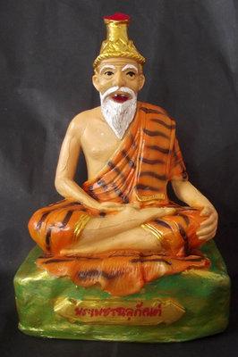 Pra Ruesi Por Gae Paetchalugan 5.2 x 8 Inches Bucha Statue - Clay and Sacred Resins - Ajarn Supot Na Lercha