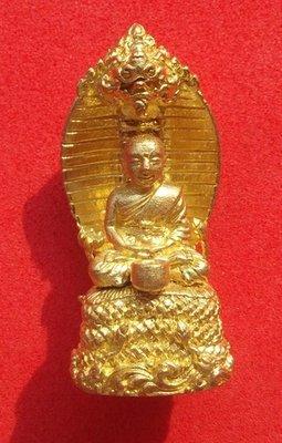 Pra Upakut Maha Sethee Nuea Tong Rakang  Maha Sethee Chana Marn (limited edition) #35 - Luang Phu Naen Kampiro - Wat Ban Kaset Tung Sethee 4 x 1.8 Cm