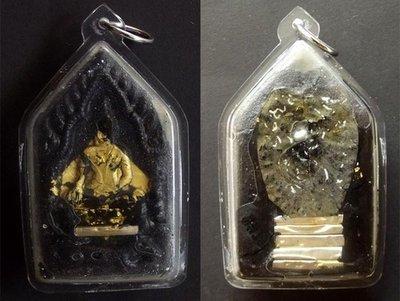 Pra Khun Phaen Gariang Kor Ma Ongk Kroo 10 Takrut (3 different spells) and real Pearl in rear face - Nuea Pong Maha Sanaeh Gariang Kor Ma Chae Nam Man (soak in charm oil) - LP Bpan