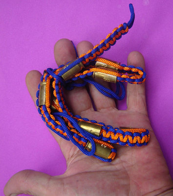 Takrut Look Pern Gan Pay 9 Look (9 Bullet takrut belt) - Run Ruay Ngern Ruay Tong (rich in silver and gold edition) Kong Grapan + Choke Lap - Luang Por Rit (Wat Chonlapratan) 2547 shipping included