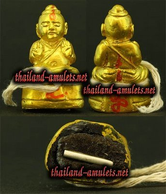 Kumarn Tong Nopparit  with Gaya Siddhi elements) - Dtai Thaan Ud Pong Aathan Fang Takrut - Luang Por Sri Mueang - Wat Kantod