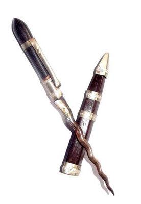 Grich Prohmakun (Ritual Brahma Dagger) 5 Inches Long Sacred Wood Sheath Nava Loha Blade - 'Jong Samrej' Edition 2555 BE - Luang Phu Hongs