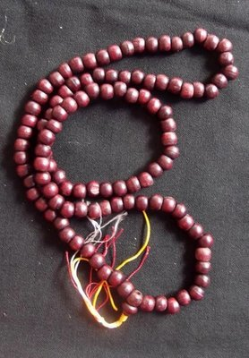 Prakam Suad Montr Bhavana Kata (Buddhist Prayer bead Rosary for Chanting and Meditative Practice) made from Tamarind Wood 108 Beads