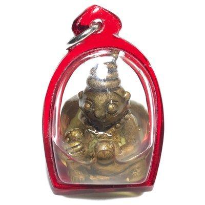 Pra Ngang Por Ngad Maha Sanaeh Seducer-Gambler Ghost - Alchemical Metal  with Wan 108 Powder Filling in Dork Tong Oil - Ta Poon (Forest Lay Sorceror)