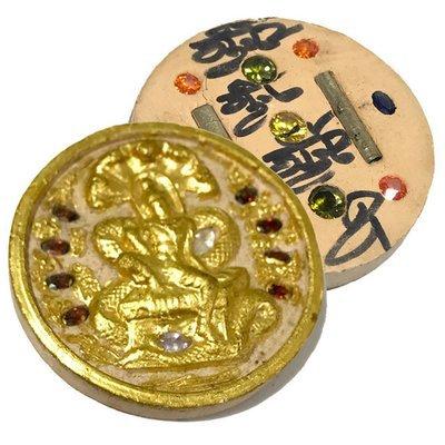 Taep Jatukam Ramataep Pim Yai Ongk Kroo 19 Gems 2 Takrut Hand Inscribed Nuea Pikul Wai Kroo 2550 BE Kroo Ba Krissana
