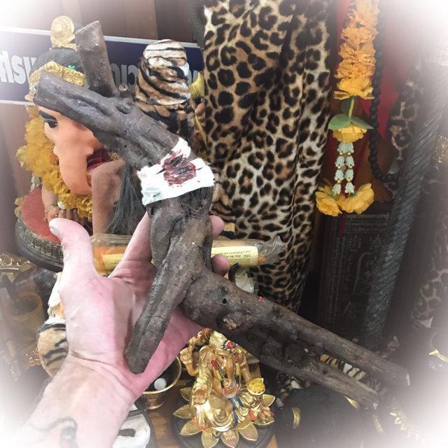 Giant Hun Payont Mai Ga Fak Rak 16 Inches Enchanted Sacred Treewood Spellbound Golem Soldier - Por Tan Kloi - Less Than 2 Dozen Made