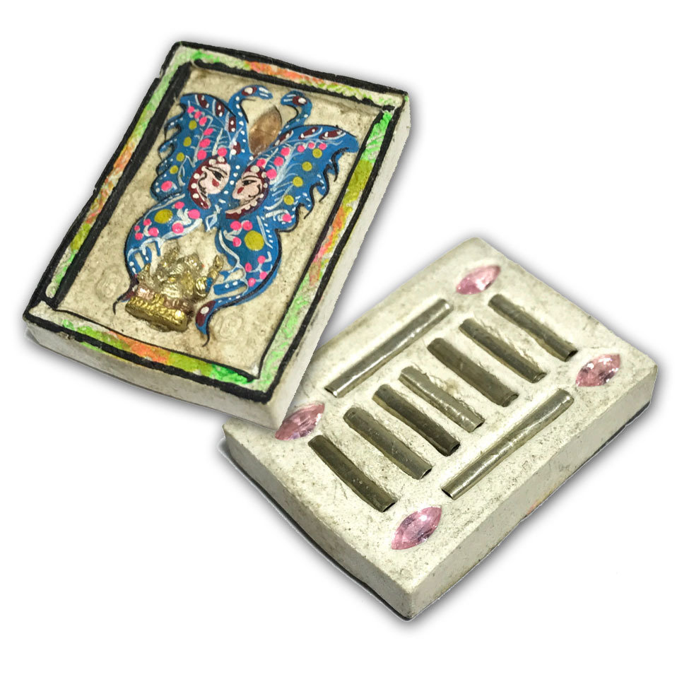 Taep Jamlaeng Pim Lek Run Pised 2554 BE Extreme Limited Butterfly King Amulet only 30 Made Ganesha Statuette 5 Gems 9 Silver Takrut Kroo Ba Krissana