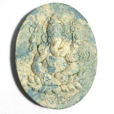 Pra Pikanes Maha Taep Nuea Pong Nga Chang Wai Kroo 2551 BE - Ganesha God Ivory Powders Only 1000 Made - Kroo Ba Krissana