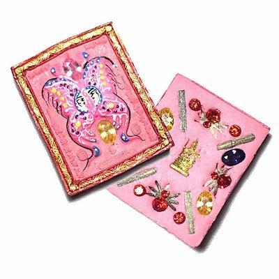 Taep Jamlaeng Roman Pim Lek A2 Asrom Sathan 2556 BE Pink Powders14 Gems Brahma Statuette 4 Takrut Kroo Ba Krissana Only 300 Made