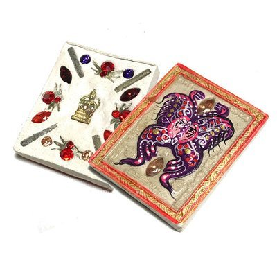 Taep Jamlaeng Roman Pim Lek A2 Asrom Sathan 2556 BE White Powders14 Gems Brahma Statuette 4 Takrut Kroo Ba Krissana Only 300 Made