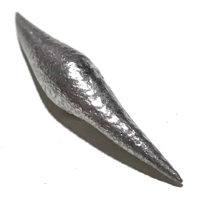 Ultra Rare Silver Lek Lai Ngern Yuang Wachiratat 3 Cm Luang Por Huan Wat Putai Sawan 2548 BE