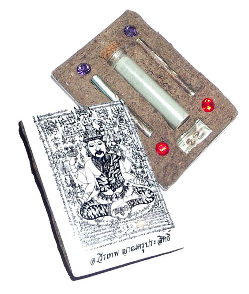 Locket Por Gae Lersi Narai Kroo Jumbo Gammagarn Wai Kroo Edition Amulet - Ajarn Wirataep Yan Kroo Prasit + 7 Great Lay Masters
