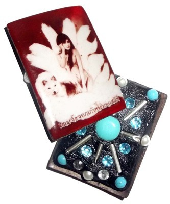 Locket Jing Jork Gao hang (9 Tails Fox) - Demoness Enchantress Locket 'Ongk Kroo' (large Masterpiece version) - 10 Gems 8 Takrut 4 Pearls + 5 Ploi Sek - Por Phu Noi Dtan (Lanna Laymaster)