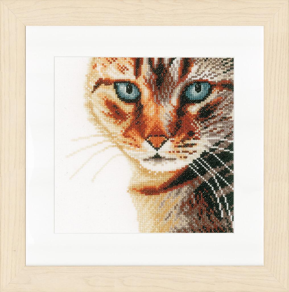 """Kruissteek Lanarte """"Cat close up"""""""