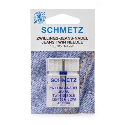 Schmetz tweelingnaald jeans 4,0/100