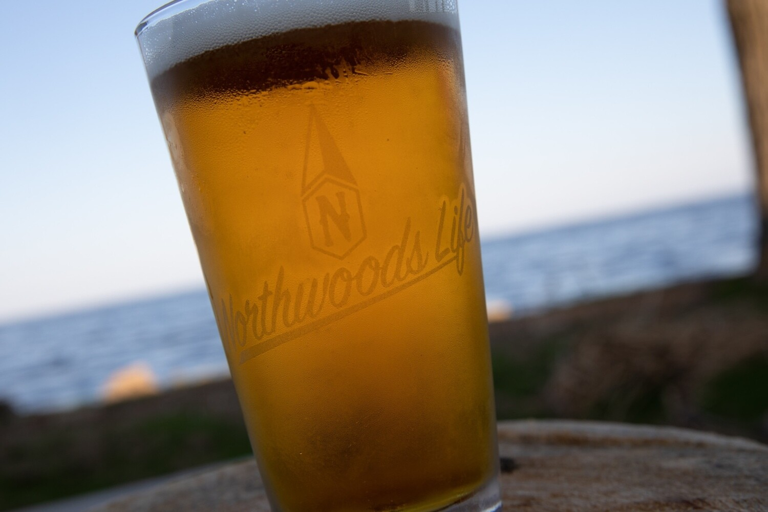 Northwoods Life Etched Pint Glass