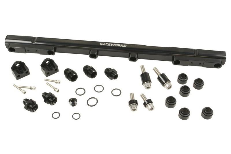 Raceworks Fuel Rail Toyota Supra JZA80 2JZ & Aristo 2JZ-GTE (3.0L) – Black