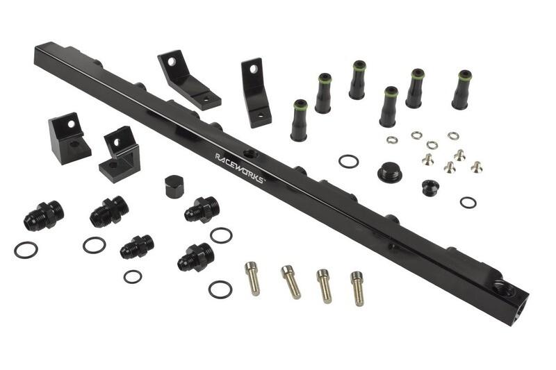 Raceworks Fuel Rail Ford Falcon EF – BF Suit Short Injectors – Black
