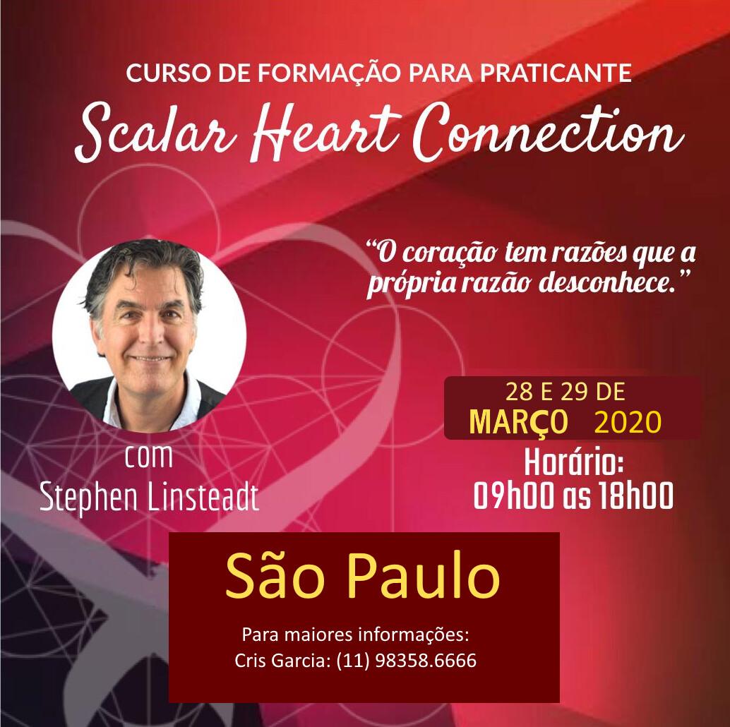 Curso de Formação de Praticante de Scalar Heart Connection -São Paulo, SP Evento adiado para nova data durante o segundo semestre de 2020.
