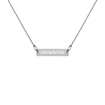 EBGM Engraved Silver Bar Chain Necklace