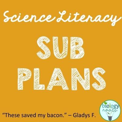 Science Literacy Sub Plans- BUNDLE
