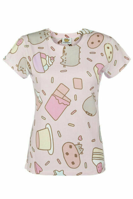 Pusheen 'Sweet Treats' Pink Ladies' T-Shirt