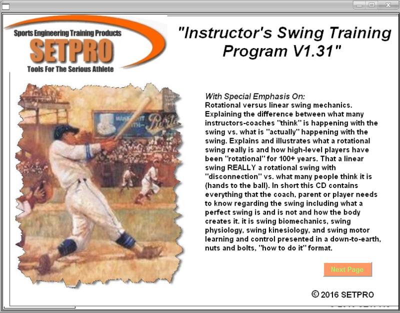 SETPRO Swing Instructor Program V1.31