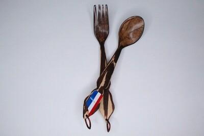 Decorative Coconut Spoon/Fork Set