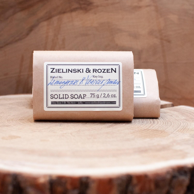 Solid soap Lemongrass & Vetiver, Amber (75 g)
