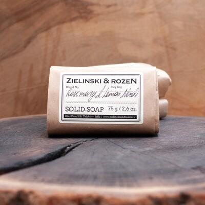 Твёрдое мыло Розмарин, Лимон, Нероли (75г)