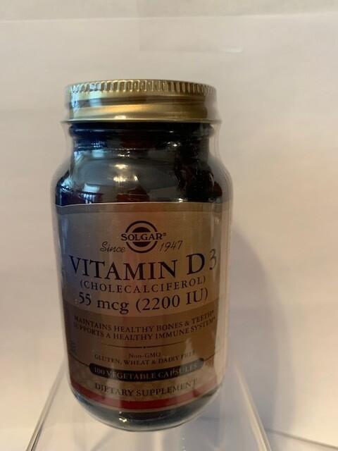 Vitamin D3 55mcg (2200IU) #100 veggie caps