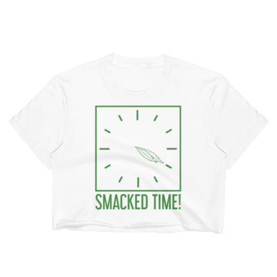 Smacked Time! Women's Crop Top in White