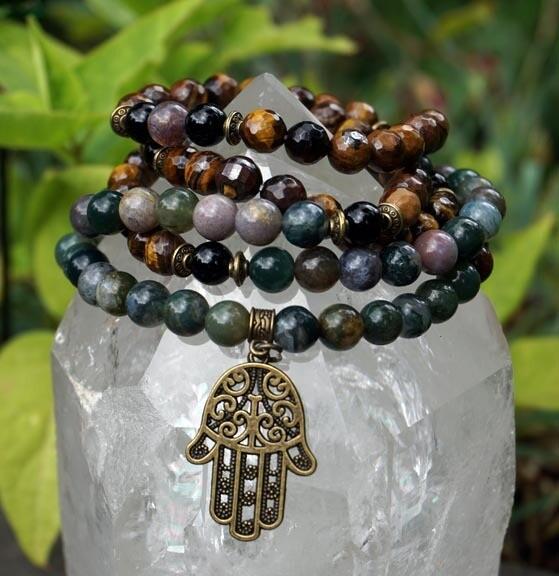 Prayer Beads with Hamsa Hand