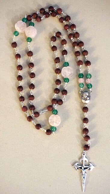 Rose Petal Beads Rosary