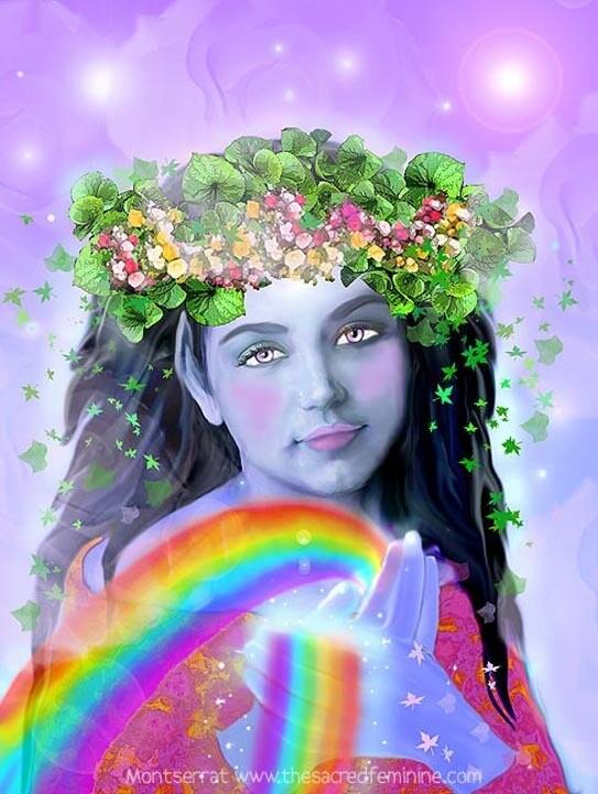 Rainbow Post Card by Montserrat