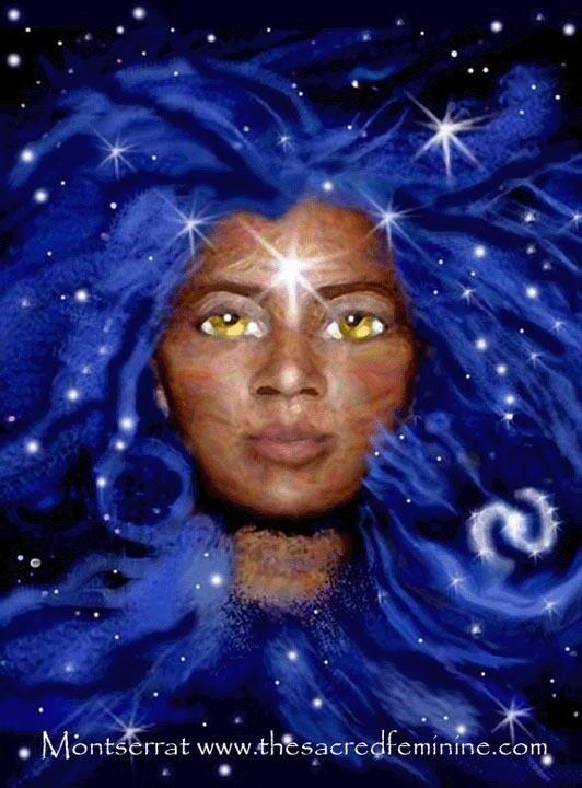 Goddess Eyes Post Card by Montserrat
