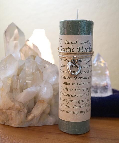Healing Candle with charm