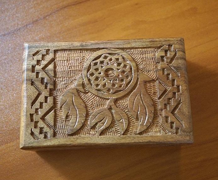 Dream Catcher Wooden Box