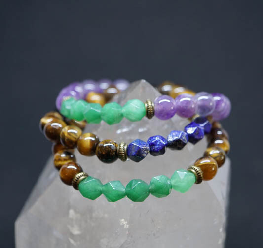 Faceted Gemstone Bracelets