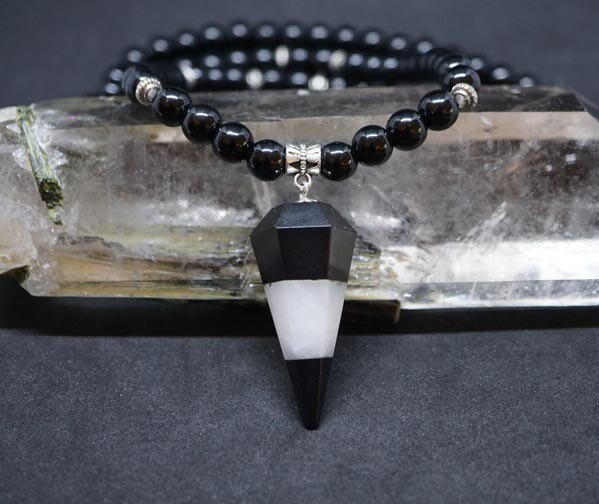 Obsidian and Agate 108 beads malas