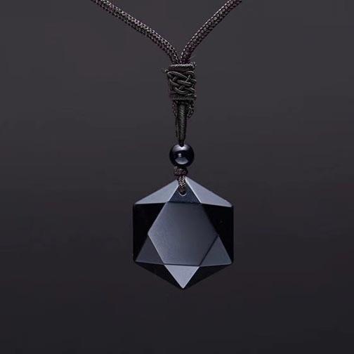 Obsidian Six Sided Pendant