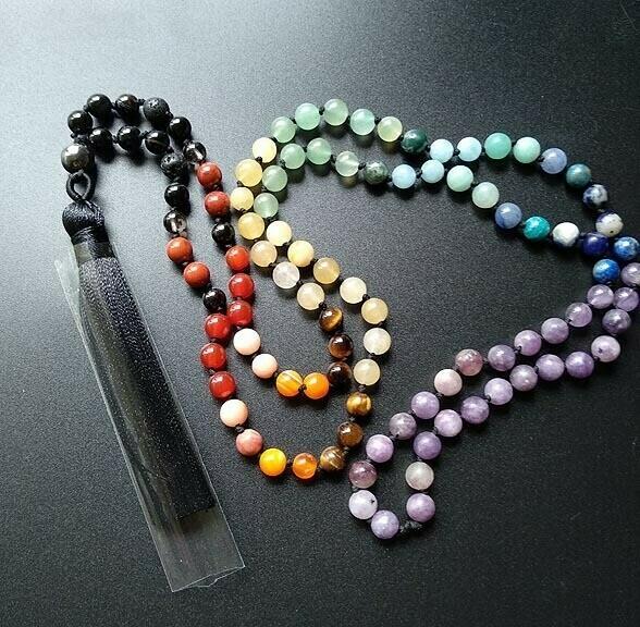 Hand Knotted Chakra Prayer Beads